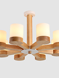 cheap -LightMyself 8 Lights Chandelier Modern/Contemporary Traditional/Classic Vintage Country Wood Feature for Living Room Bedroom Dining Room