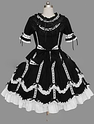 cheap -Gothic Lolita Dress Princess Punk Women's Girls' Dress Cosplay Cap Short Sleeves Short / Mini