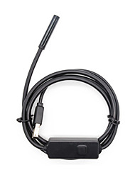 cheap -Waterproof industrial endoscope mobile phone computer dual-use endoscope 300 000 high-resolution pixels 2 meters long flexible wire.