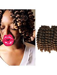 Trecce Crochet pre-ciclo L'Avana Uncinetto Riccio Bouncy Curl Twist profonda Capelli di rimbalzo giamaicano CinaRamato Nero / Strawberry
