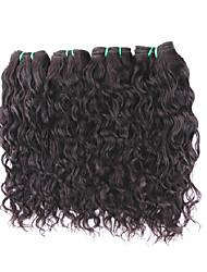 Недорогие -Натуральные волосы Пряди натуральных волос Реми Естественные волны Бразильские волосы 400 g