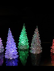 1PCS 7 Colors Changing LED Christmas Tree Night Light Lamp Home Decor Gift New Year Colorful Christmas Decoration Supplies