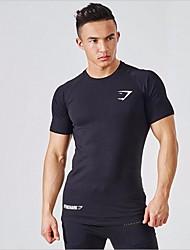 Homens Camiseta de Trilha para Correr Verão M L XL