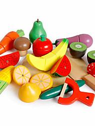 Недорогие -Игрушечная еда Овощи и фрукты Ножи для овощей и фруктов Магнитный Классический Мальчики Девочки Игрушки Подарок