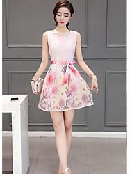 abordables -Mujer Moderno Vaina Vestido - Estampado, Patrón Mini