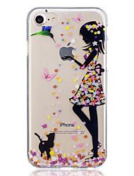 billiga -fodral Till Apple iPhone 7 / iPhone 7 Plus Mönster Skal Katt / Sexig kvinna Mjukt TPU för iPhone 7 Plus / iPhone 7 / iPhone 6s Plus