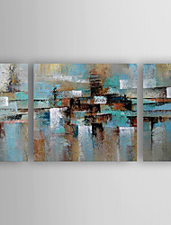 Hand-Painted 3pcs of Set  Abstract Canvas Oil Painting For Home Decoration Ready to Hang
