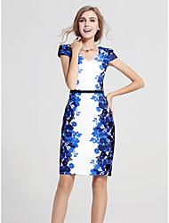 abordables -Mujer Tallas Grandes Trabajo Recto Vaina Vestido Floral