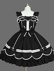 cheap -Gothic Lolita Dress Princess Women's Girls' JSK / Jumper Skirt Cosplay Cap Long Sleeves Short / Mini