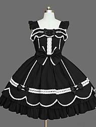 Gothic Lolita Dress Princess Women's Girls' JSK / Jumper Skirt Cosplay Cap Long Sleeves Short / Mini
