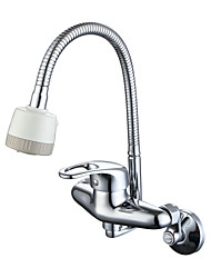 abordables -Moderne Traditionnel Pot Filler Débit Normal Montage mural Soupape céramique Chrome, Robinet de Cuisine