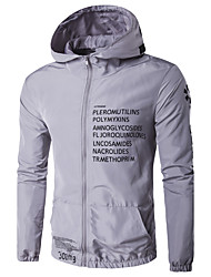 Men's Sport Daily Casual/Daily Sport Winter Spring/Fall Jacket,printing Hooded Long Sleeve Regular Polyester