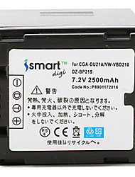 Ismartdigi DU21 7.2V 2500mAh Camera Battery for Panasonic NV-GS500 GS28 GS188 GS180 GS300GK