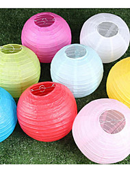 10 / Group Supply Wedding Reception Party Decoration Color Paper Lantern Lamp Shade