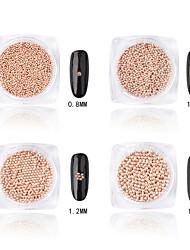 cheap -Rose Gold Metal Ball Nail Art Decoration Rhinestone Pearls Makeup Cosmetic Nail Art Design (1.5mm)