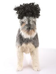 abordables -Gato Perro Navidad Pelucas Ropa para Perro Fiesta Casual/Diario Cosplay Halloween Año Nuevo Sólido Negro Disfraz Para mascotas
