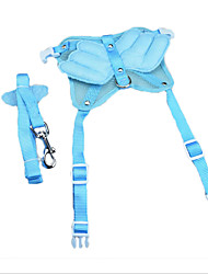 cheap -Dog Harness Leash Safety Adjustable Solid Nylon Light Blue
