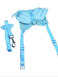 cheap -Dog Harness Leash Safety Adjustable Solid Nylon Light Blue