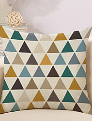 cheap -1 Pcs Colorful Triangular Lattice Printing Pillow Cover Classic Cotton/Linen Cushion Cover Pillowcase 45*45Cm