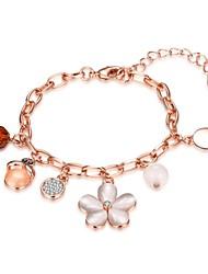 economico -Per donna Bracciali a catena e maglie Bracciali con ciondoli Cristallo Opal sintetico Natura Amicizia Di tendenza Vintage stile della