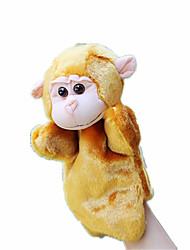 Недорогие -Пальцевые куклы Куклы Игрушки Rabbit Обезьяна Животные Плюшевая ткань Куски