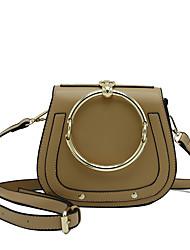 Women Bags All Seasons PU Shoulder Bag Rivet for Wedding Event/Party Casual Formal Office & Career White Black khaki