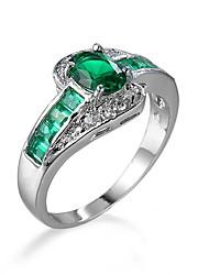 cheap -Women's Men's Ring Emerald Unique Design Fashion Euramerican Jewelry Jewelry For Wedding Special Occasion Anniversary