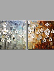 Handmade Thick Knife Flower Oil Painting Wall Art Home Decor Stretched Framed Ready To Hang SIZE 50*50cm*2