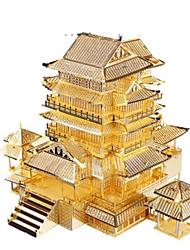 abordables -Puzzles 3D Puzzle Puzzles en Métal Kits de Maquette Bâtiment Célèbre Architecture 3D A Faire Soi-Même Articles d'ameublement Aluminium