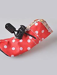 preiswerte -Hund Schuhe und Stiefel Wasserdicht Punkt Rose Rot Blau Rosa Für Haustiere