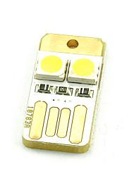 abordables -Teclado del ordenador luces mini usb energía móvil dos 5050 chubby muelle doble cara blanco cálido o blanco frío