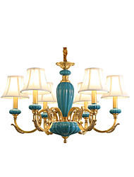 cheap -All Copper Chandelier Jade DecorativeLiving Room Chandelier 6