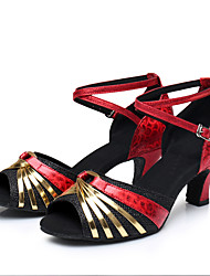 economico -Da donna Balli latino-americani Brillantini Paillette Sintetico Vernice Lustrini Finta pelle Sandali Tacchi Sneaker Per interni Strass