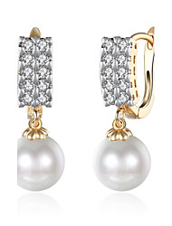 cheap -Women's Drop Earrings Cubic Zirconia Imitation Pearl Basic Fashion Vintage Bohemian Punk Personalized Hip-Hop Hypoallergenic Cute Style