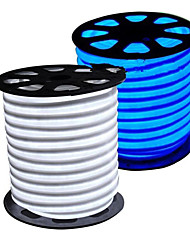 cheap -HKV Flexible LED Light Strips 300 LEDs Warm White White Blue Cuttable Waterproof 220V 110V