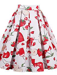 abordables -Mujer Clásico Línea A Faldas Geométrico Estampado