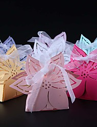 cheap -50pcs Flower Laser Cut Wedding Favor Box Candy Box Party Supplies