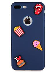 billige -Etui til Apple iPhone 7 plus 7 Cover Mønster Bag Cover Cover Food Heart 3D Tegneserie Blød Silikone 6s plus 6 plus 6 6s 5 5s