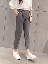 cheap -Women's High Rise Micro-elastic Skinny Bootcut Slim Business Pants,Casual Solid Cotton Rayon Summer