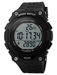 Недорогие -SKMEI Муж. Спортивные часы электронные часы Цифровой Календарь Защита от влаги Педометр Хронометр PU Группа Черный Зеленый