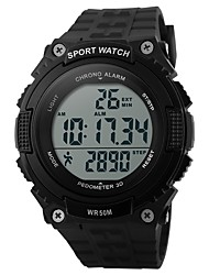 abordables -SKMEI Hombre Reloj Deportivo Reloj digital Digital Calendario Resistente al Agua Podómetro Cronómetro PU Banda Negro Verde