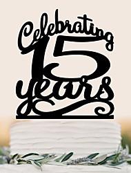 cheap -Cake Topper Wedding Birthday High Quality Plastic Wedding Birthday With PVC Bag