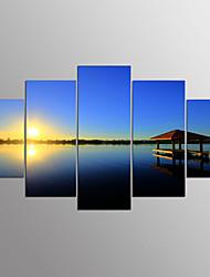 economico -Stampe a tela Astratto,Cinque Pannelli Tela Orizzontale Stampa Decorazioni da parete For Decorazioni per la casa