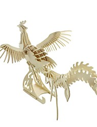 abordables -Puzzles 3D Puzzle Maquettes de Bois Kit de Maquette Oiseau Articles d'ameublement A Faire Soi-Même En bois Bois Classique Unisexe Cadeau
