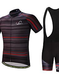 billige -Herre Cykeltrøje og shorts med seler Cykel Tøjsæt, Hurtigtørrende