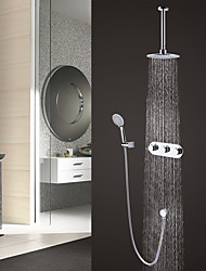 cheap -Contemporary Modern Style Widespread Rain Shower Handshower Included Brass Valve Chrome, Shower Faucet
