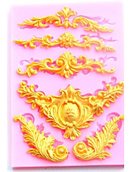 cheap -European Style Relief Lace Silicone Molds Fondant Cake Chocolate Mold Kitchen Baking Cake Border Decoration Tools