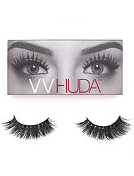 cheap -1 Eyelashes Full Strip Lashes Eye Thick Hand-made Animal wool eyelash Black Band 0.15mm