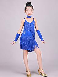 Budeme latinské taneční šaty děti výkon paillettes šaty