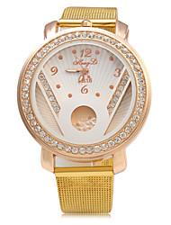 cheap -Women's Fashion Watch Chinese Quartz Large Dial Metal Band Luxury Sparkle Gold